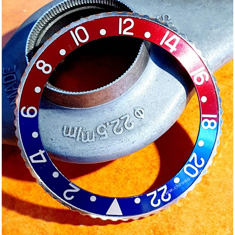 ROLEX  WATCH PART GMT 1675, 16750 BEZEL TUTONE INSERT PEPSI COLOR BLUE & RED