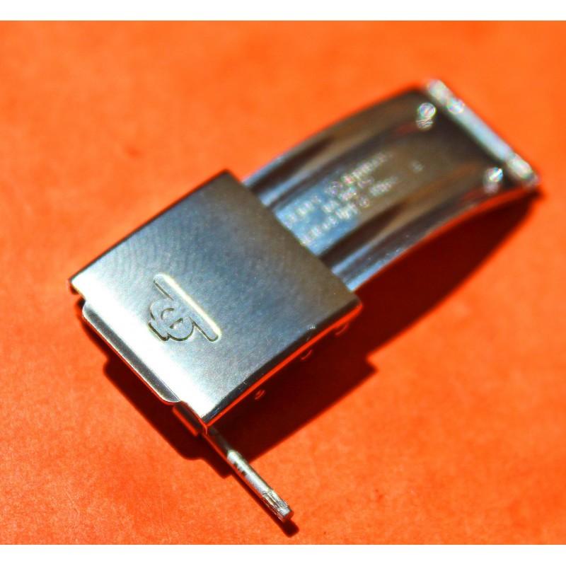 ORIGINALE BOUCLE DEPLOYANTE ACIER BAUME & MERCIER EN 15mm pour bracelets -NEUVE-
