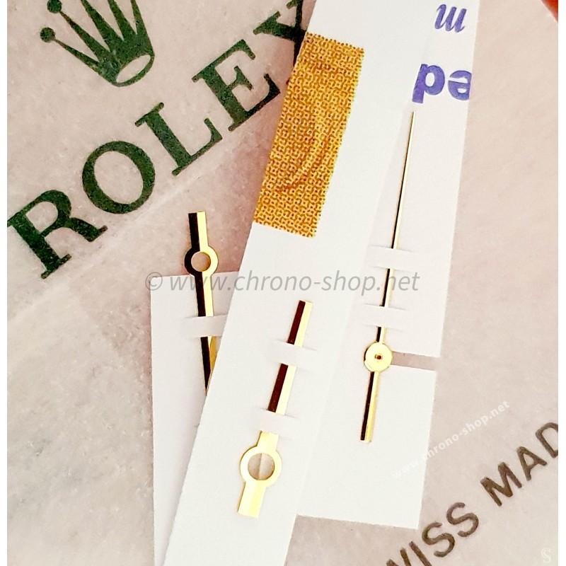 Rolex authentique Set aiguilles fines en or jaune & noir montres 36mm Datejust 16013,16018 Cal 3035,3135
