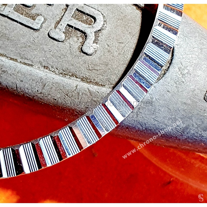GENUINE MENS ROLEX DATEJUST 16220 ENGINE TURNED BEZEL FLUTED Stainless Steel S/S Watch Bezel Part Ø34.50mm