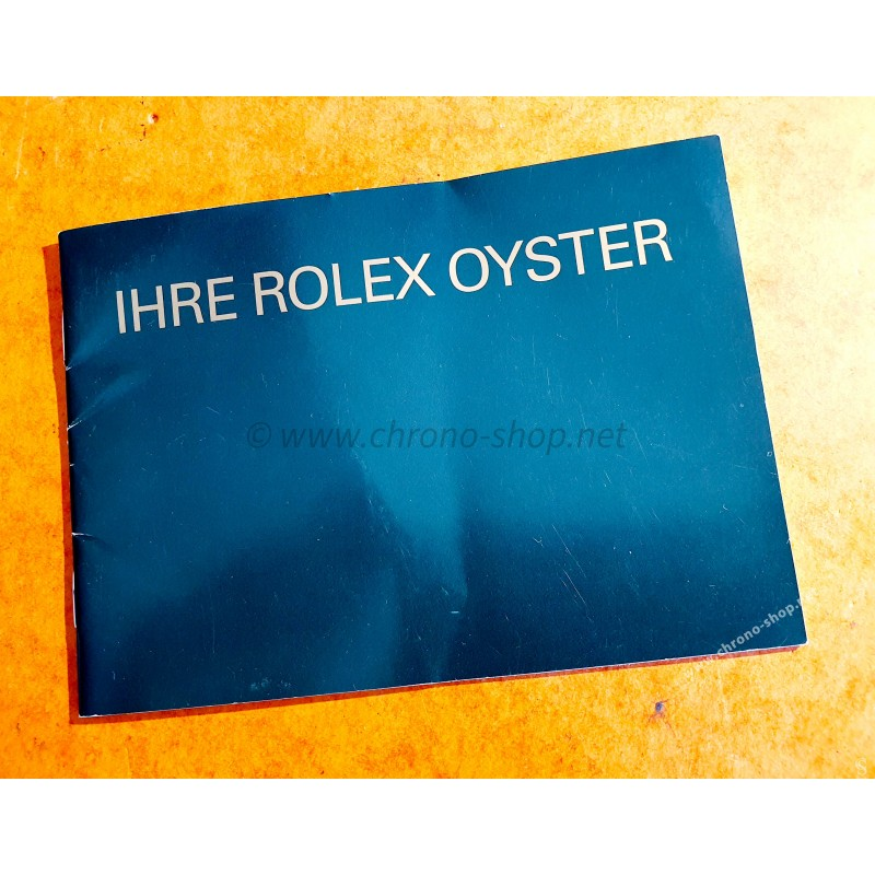 "ROLEX BOOKLET ""IHRE ROLEX OYSTER"" 1987 SUBMARINER DAYDATE OYSTERQUARTZ DATEJUST WATCHES GOLD"