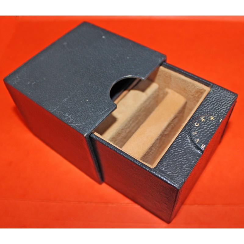 Rare Vintage Bulgari case vintage BOX Bvlagari watches storage blue leather boxset