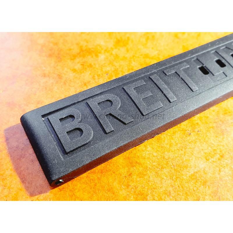 Authentic Breitling Diver Pro 3 20mm x 18mm Black Rubber Strap Band 150S x 1 part