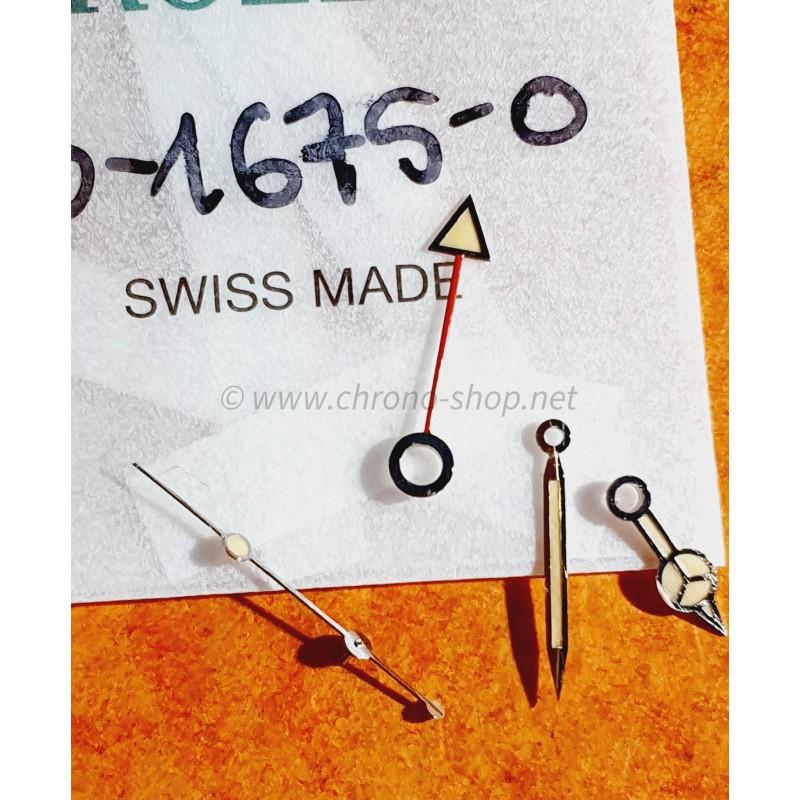 ROLEX RARES 4 x AIGUILLES TRITIUM GMT MASTER 1675 MONTRES VINTAGES