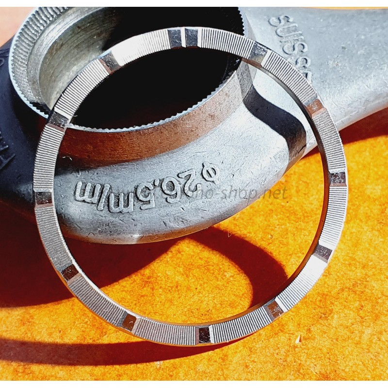 Rolex original & Rare SSteel Engine Turned Watch Bezel Airking, Oysterdate 1501,1500,1503,15000 Ø34mm
