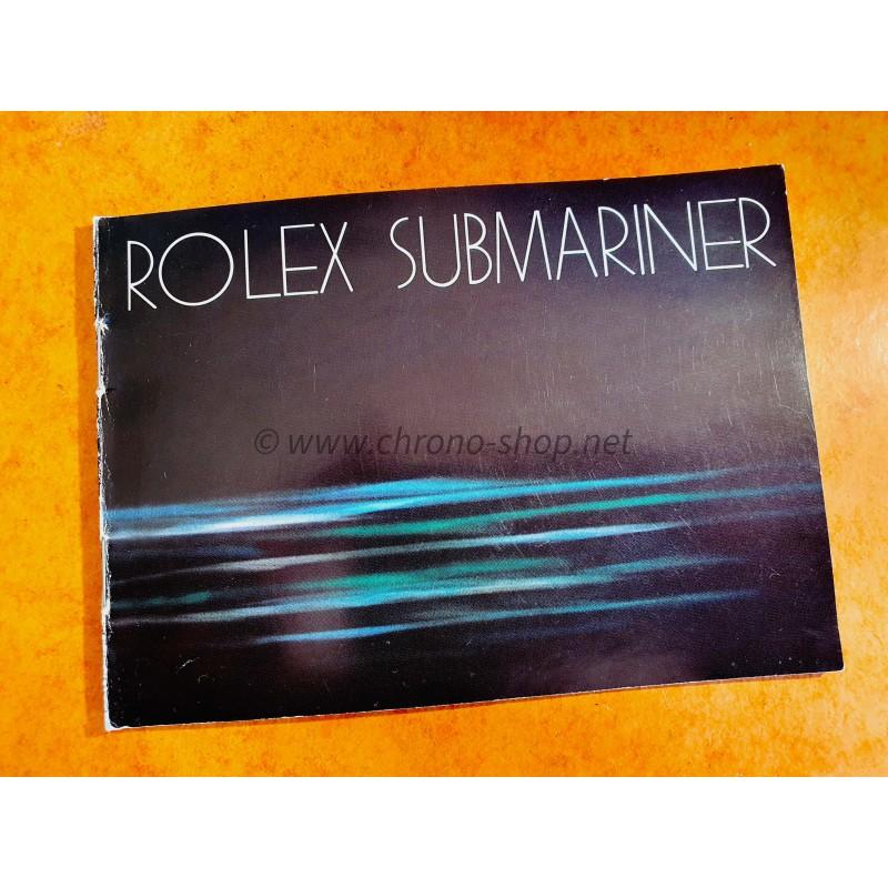 ROLEX 1981-1982 BOOKLET LIVRET MONTRES VINTAGES SUBMARINER, SEA-DWELLER 5513,1665,16660,16800,16808