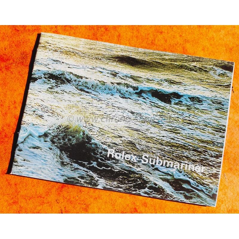 ROLEX 1975 BOOKLET LIVRET ALLEMAND MONTRES SUBMARINER ROUGE SEA-DWELLER DRSD DOUBLE RED 5513,1680,1665
