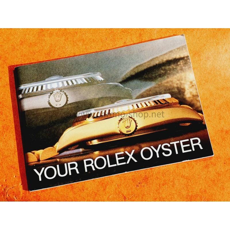 Rolex Rare vintage livret de montres anciennes YOUR ROLEX OYSTER Tous modèles submariner, Datejust, GMT, Daytona Circa 1983