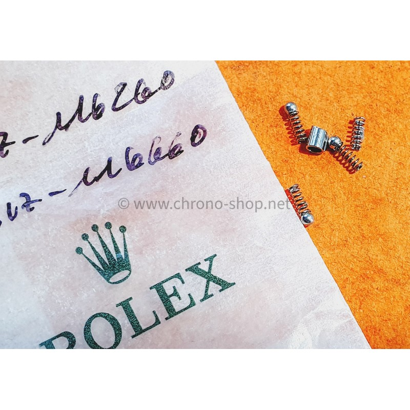 Rolex 317-116660 Original Rare 3 x stud inners click-springs set Ceramic bezel Insert Sea-Dweller DEEPSEA 116660