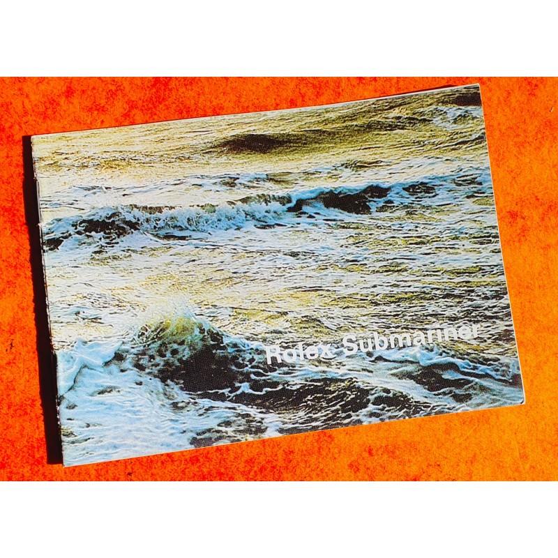 ROLEX 1975/1976 BOOKLET LIVRET NOTICE MONTRES SUBMARINER SEA-DWELLER 5513,1680,1665