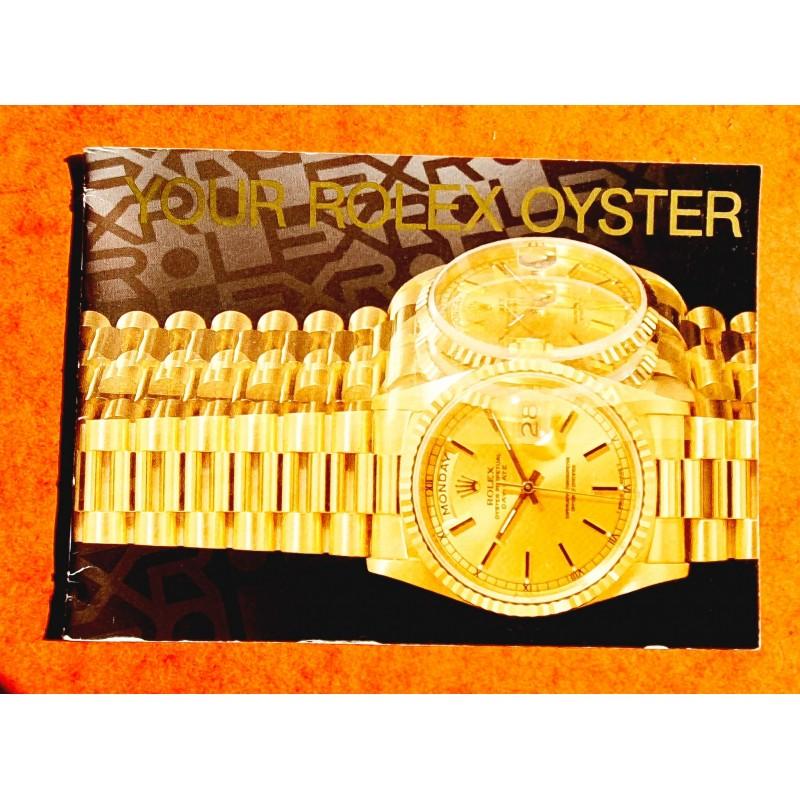 ROLEX 1990 AUTHENTIC ROLEX INSTRUCTION BOOKLET OYSTER ENGLISH EDITION WRISTWATCHES, DATEJUST, SUBMARINER, GMT, DAYTONA