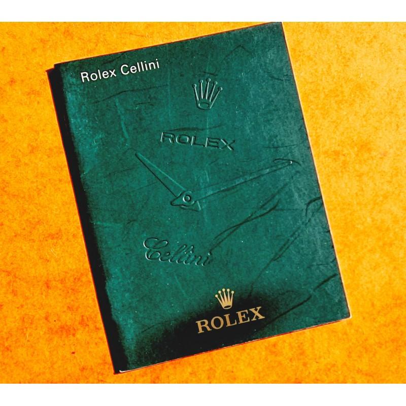 Rolex 2010 preowned Original Italian Rolex CELLINI Booklet, advertising, green manual Ref. 598.05.4.2010
