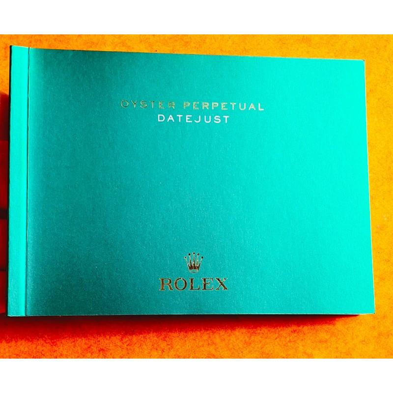 Rolex livret, manuel, notice, mode d'emploi 2015 Langue italien montres Oyster Perpetual DATEJUST 116200,116201,116203,116208