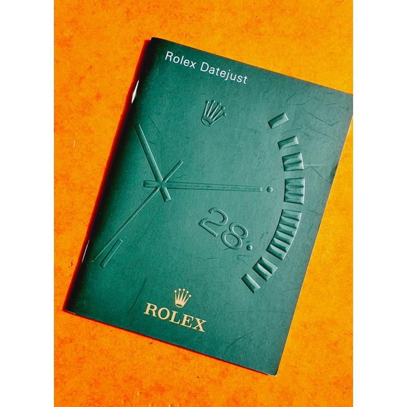 Rolex livret, manuel, notice, mode d'emploi 2009 Langue italien montres Oyster Perpetual DATEJUST 116200,116201,116203,116208
