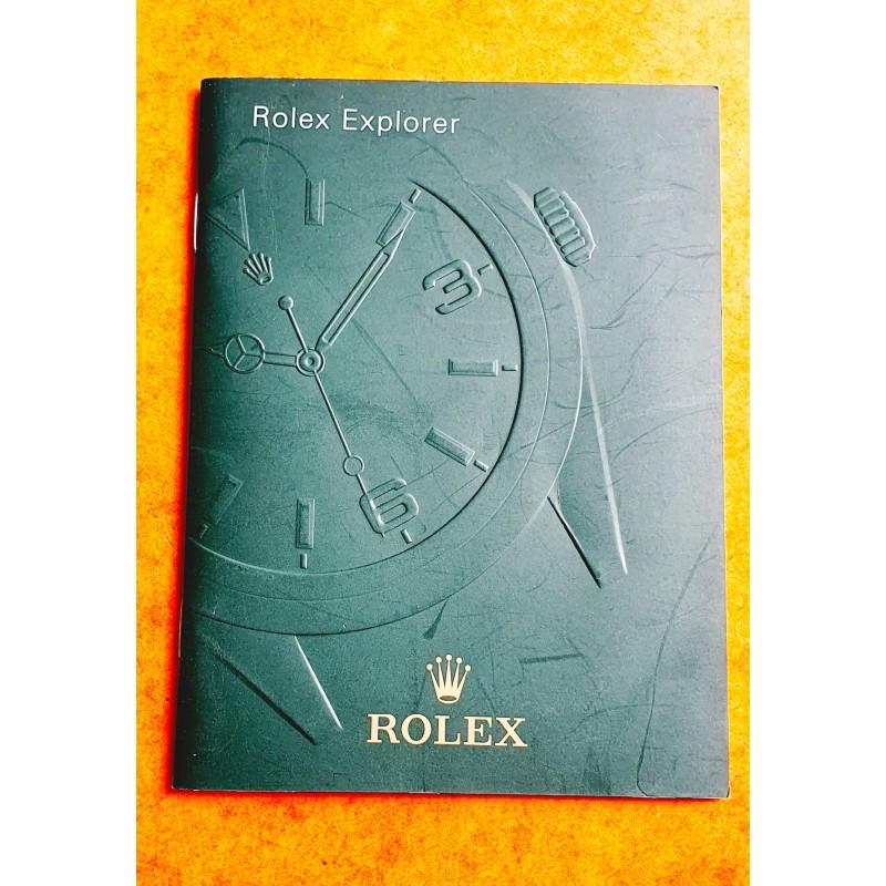Rolex Oyster Perpetual Explorer 214270 manuel d'utilisation, notice, mode d'emploi 2010 langue italien
