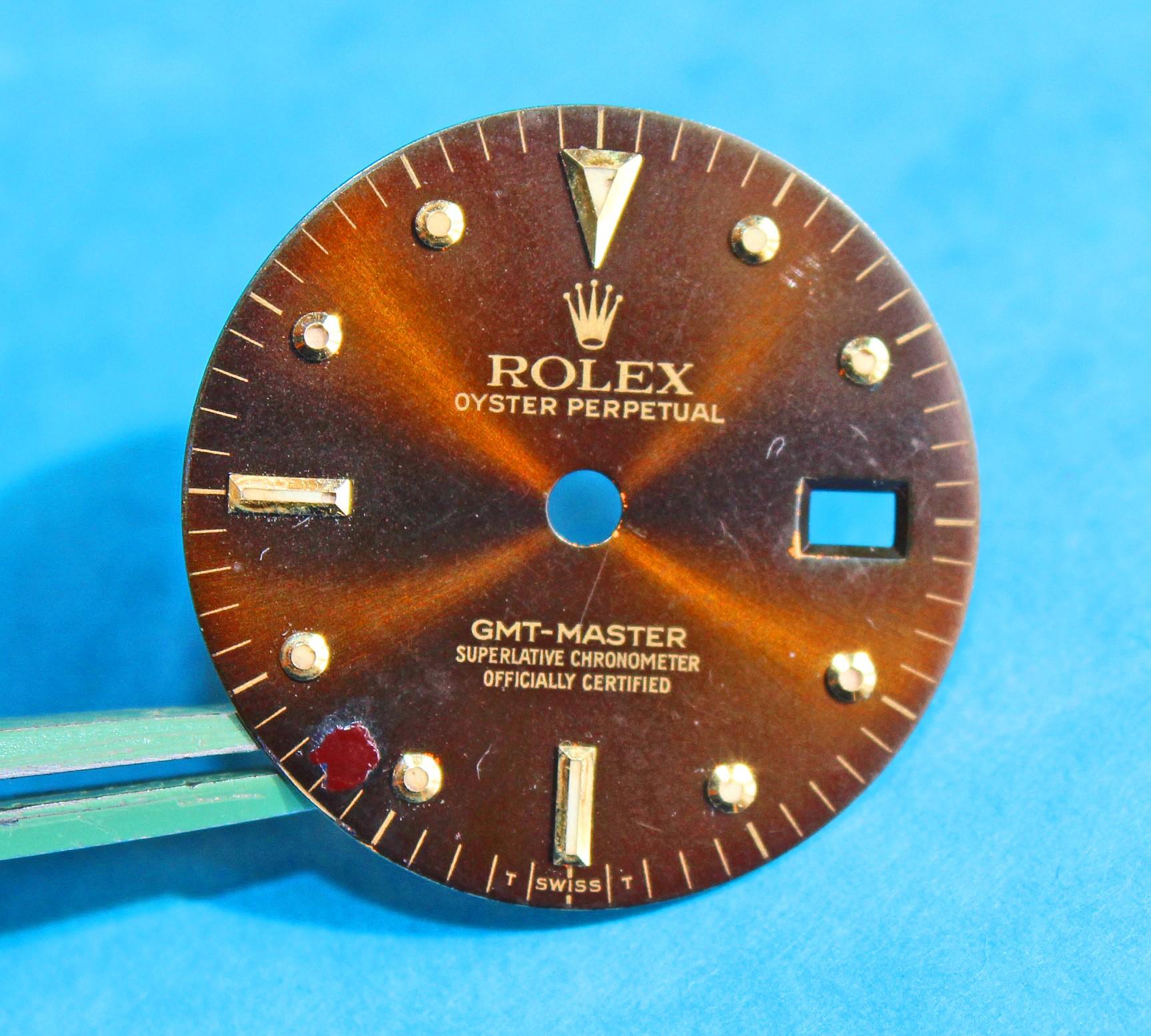 Rolex GMT MASTER BRONZE BROWN NIPPLE DIAL VINTAGE 16758 -16753 tutone cal.3075