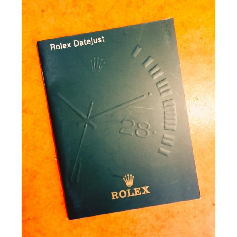 Rolex livret, manuel, notice, mode d'emploi...