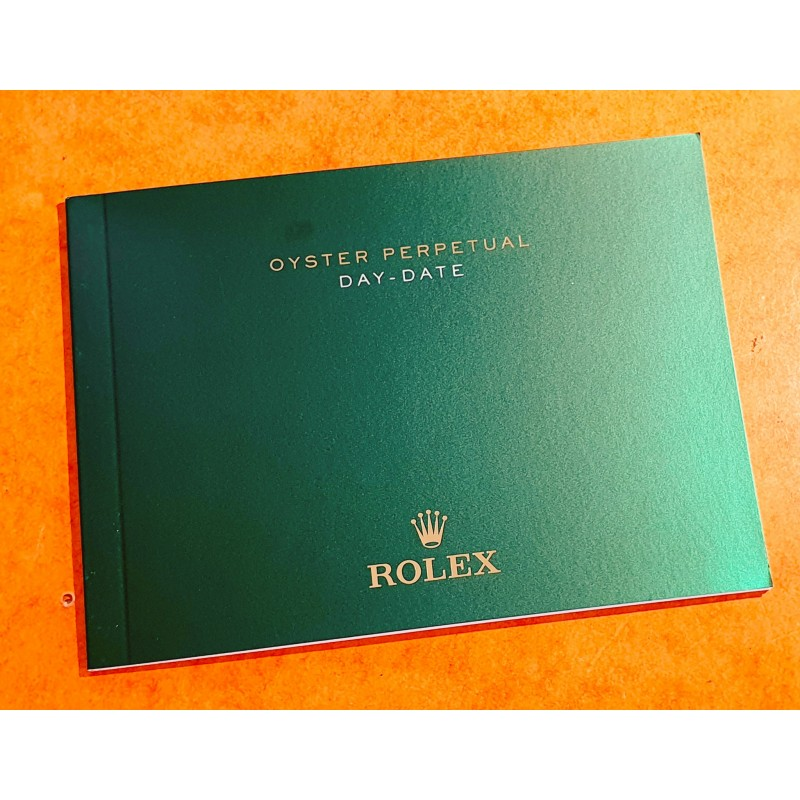 Rolex 2017 Original Italian Rolex DAY-DATE PRESIDENT 118206,118208,118209 Booklet, advertising, green manual