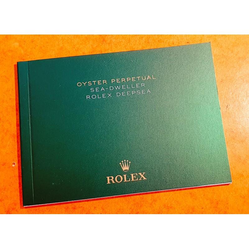 Rolex Oyster Perpetual SEA-DWELLER 126600,126603,DEEPSEA 126660 manuel d'utilisation italien,notice,mode d'emploi 2018