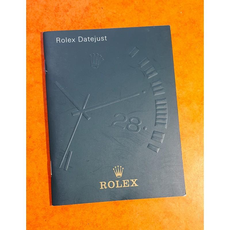 Rolex livret, manuel, notice, mode d'emploi 2001 Langue italien montres Oyster Perpetual DATEJUST 116200,116201,116203,116208