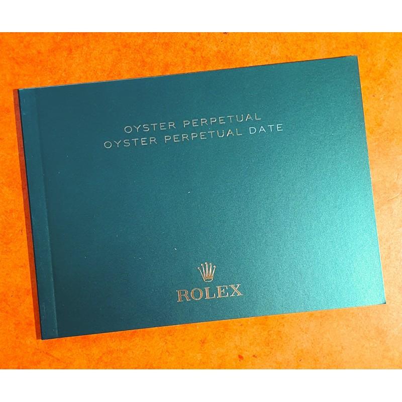 Rolex 2017 Original Italian Rolex DATE watch Booklet, advertising, green manual