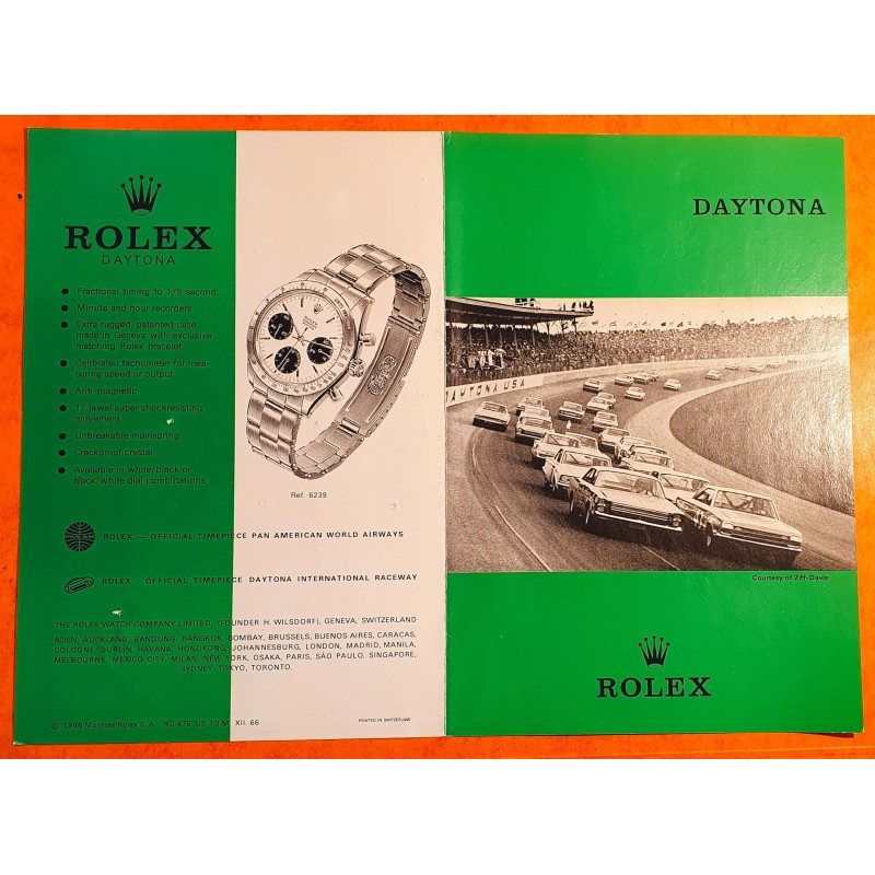 Rolex 1966 Vintage & Collectible Genuine Cosmograph Daytona Paul Newman 6239,6265 Booklet,english manual, pamphlet