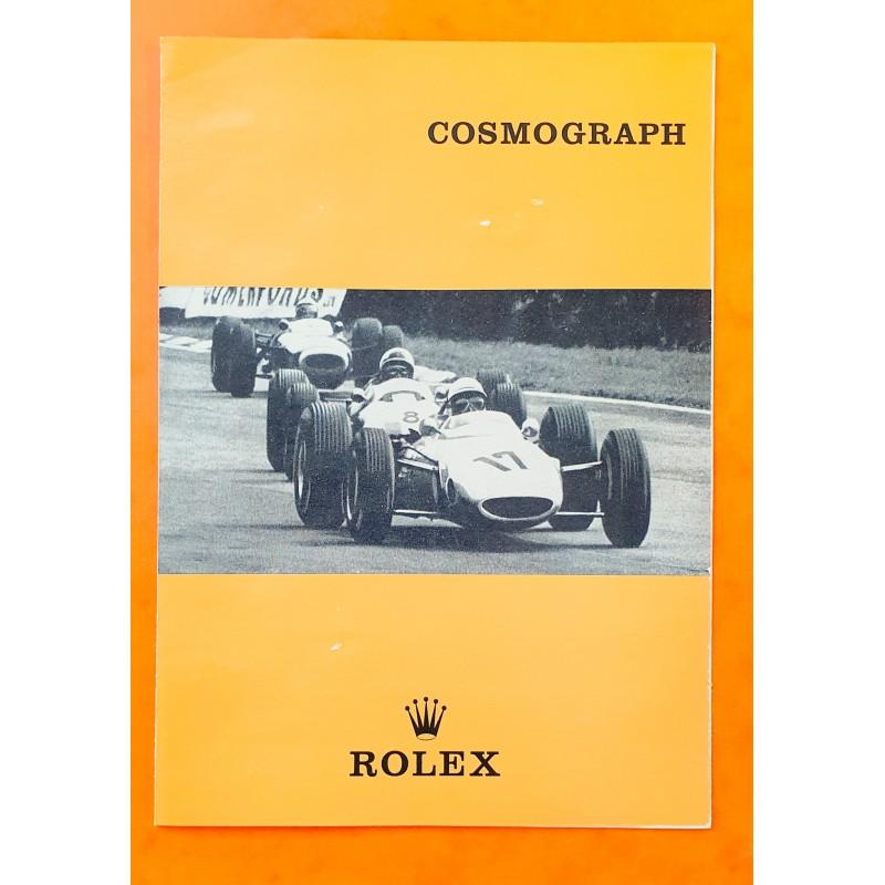 Rolex 1966 Vintage Livret, manuel anglais Montres anciennes Paul Newman Daytona 6263,6262,6265,6240,6239