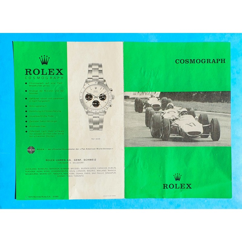 Rolex 1970 Vintage & Collectible Genuine Cosmograph Daytona Paul Newman 6239,6265 Booklet, manual german