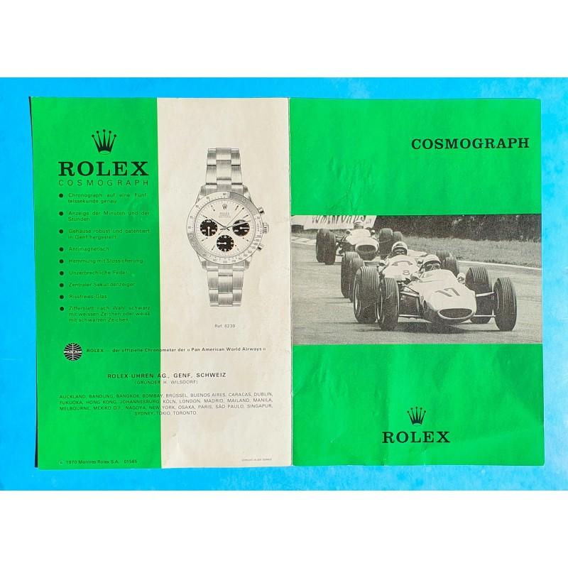 Rolex 1970 Vintage Livret Allemand Montres anciennes Paul Newman Daytona 6263,6262,6265,6240,6239