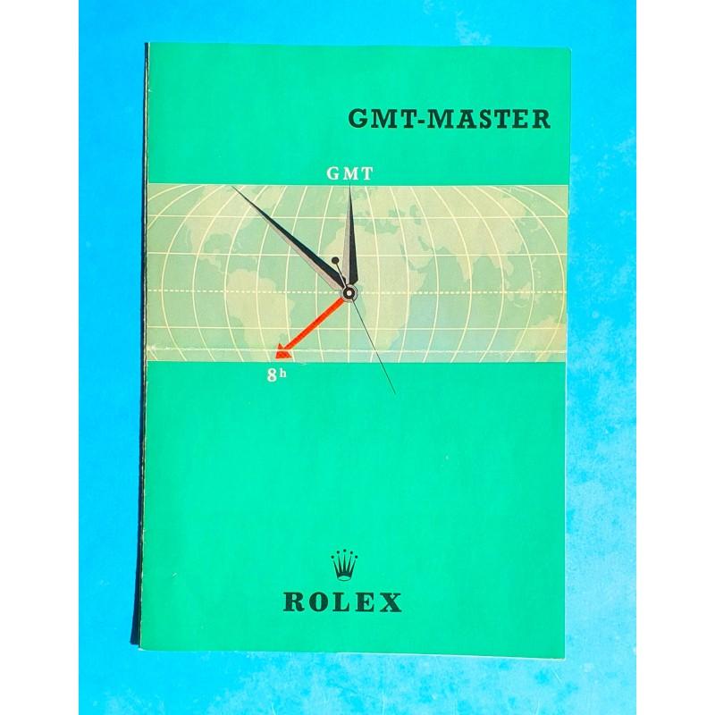 Rolex Rare vintage 1959 Livret Document anglais Notice Montres anciennes ROLEX GMT MASTER REF 6542