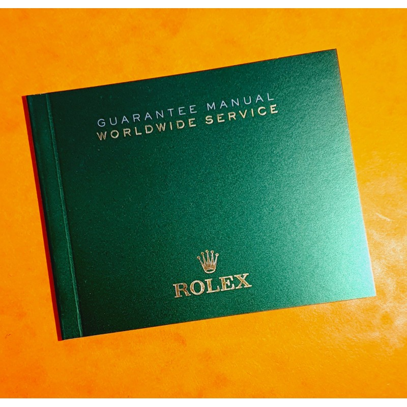 Rolex authentic Newest version Worldwide SERVICE Guarantee and Service Manual Green color