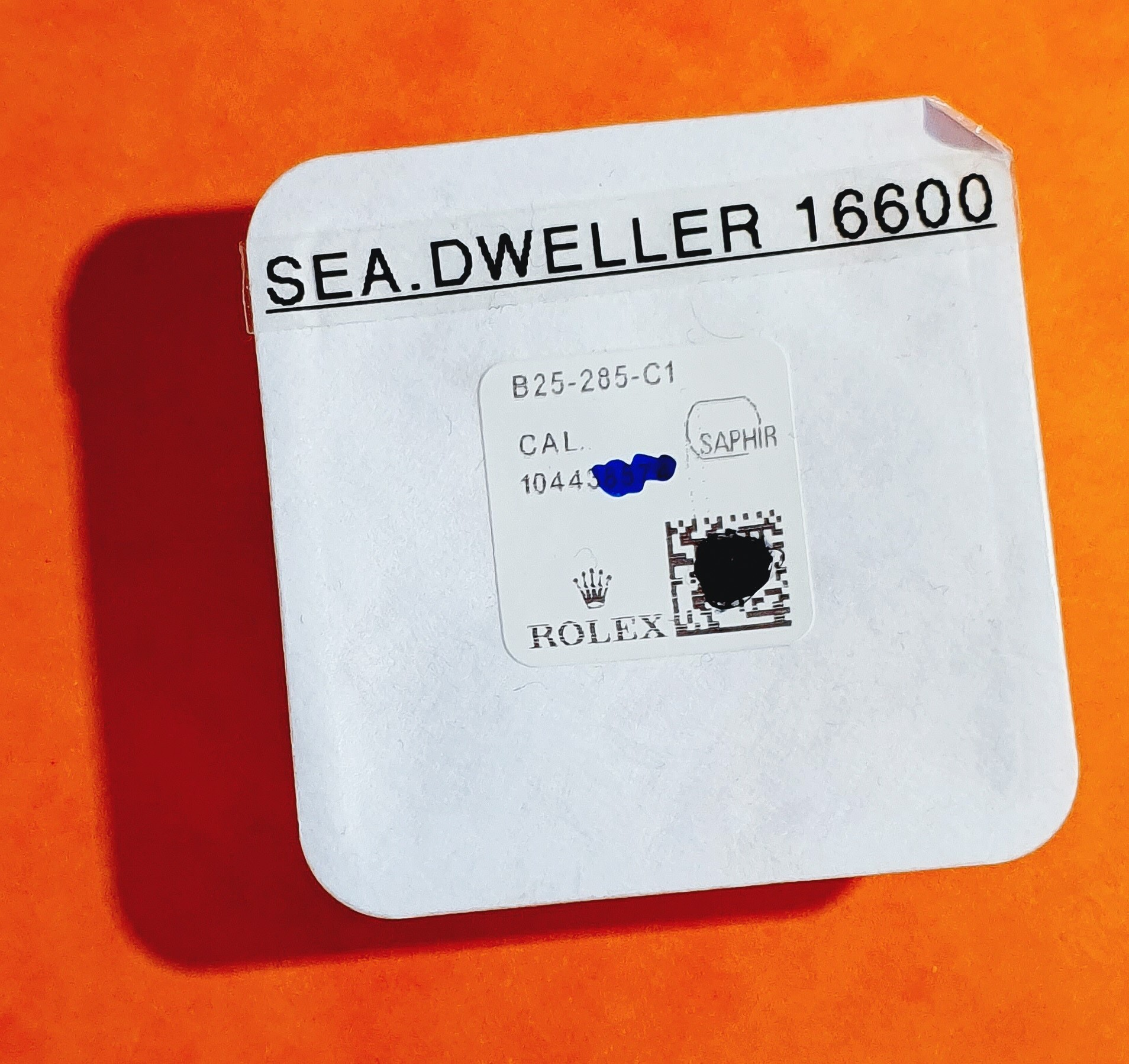 ROLEX Factory watches NEW Sapphire Crystal SEA-DWELLER 16660, 16600 Ref B25-285-C1