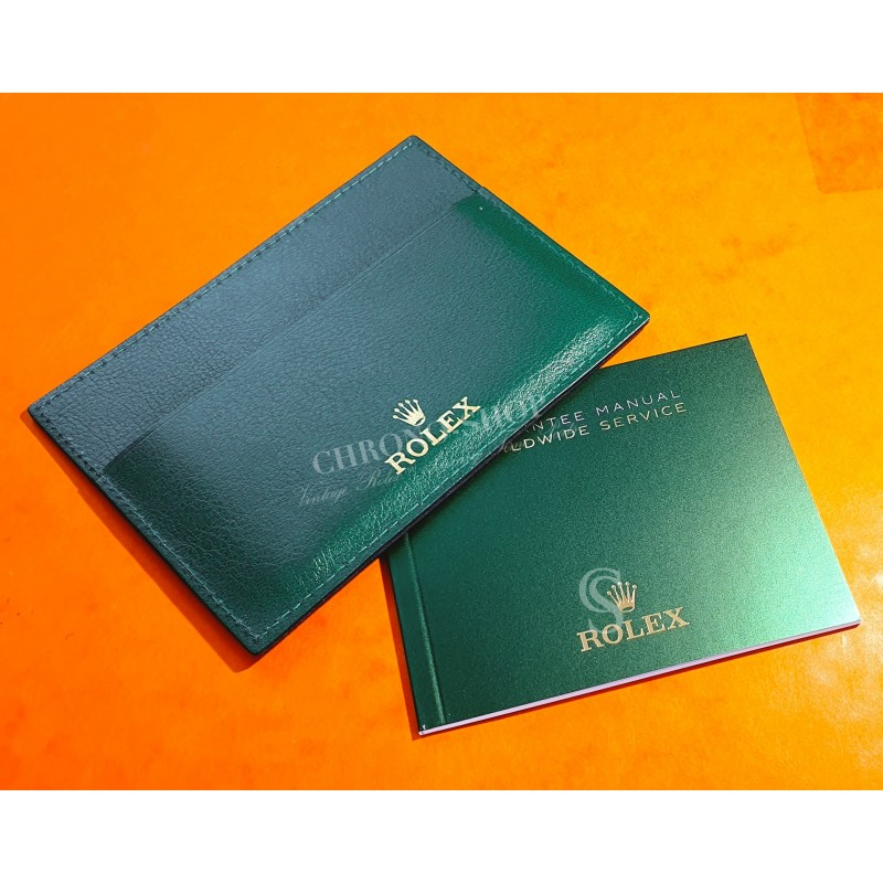 Rolex Genuine Newest version Card Holder Worldwide Guarantee Service Manual SkyDweller,Datejust,Submariner,GMT,Daytona,Explorer