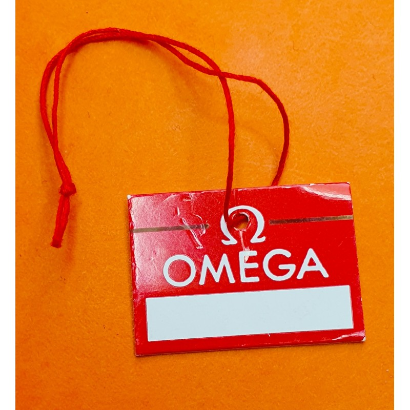 OMEGA VINTAGE 60/70's RED HANG TAG GOODIE PART BOX WATCHES SPEEDMASTER 145.012,SEAMASTER, DEVILLE,CONSTELLATION