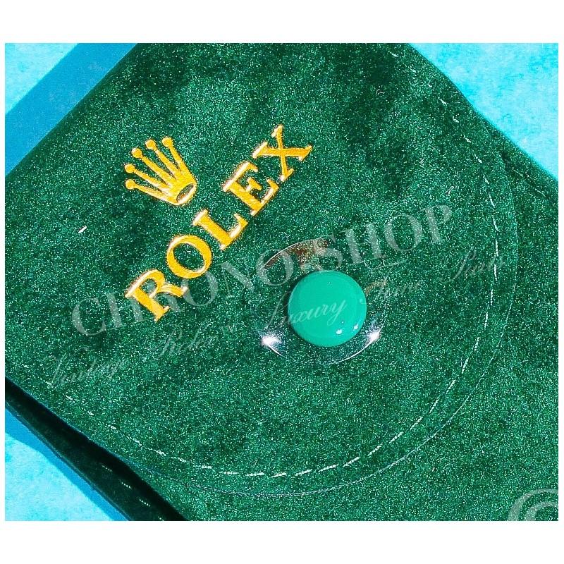 Rolex Original green suede velvet pouch traveler's service holder case watches Datejust,Submariner,Gmt,Daytona,Explorer,Air King