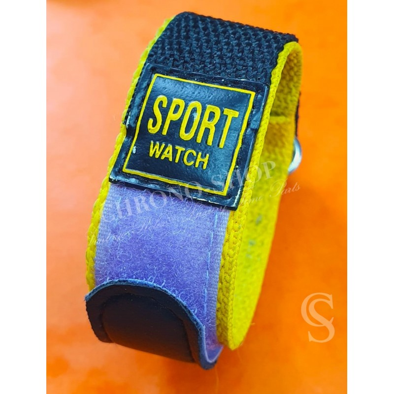 Velcro Strap 25mm Yellow & Black Pratical sport Strap watches wrist band,bracelet Velcro,waterproof adjustable