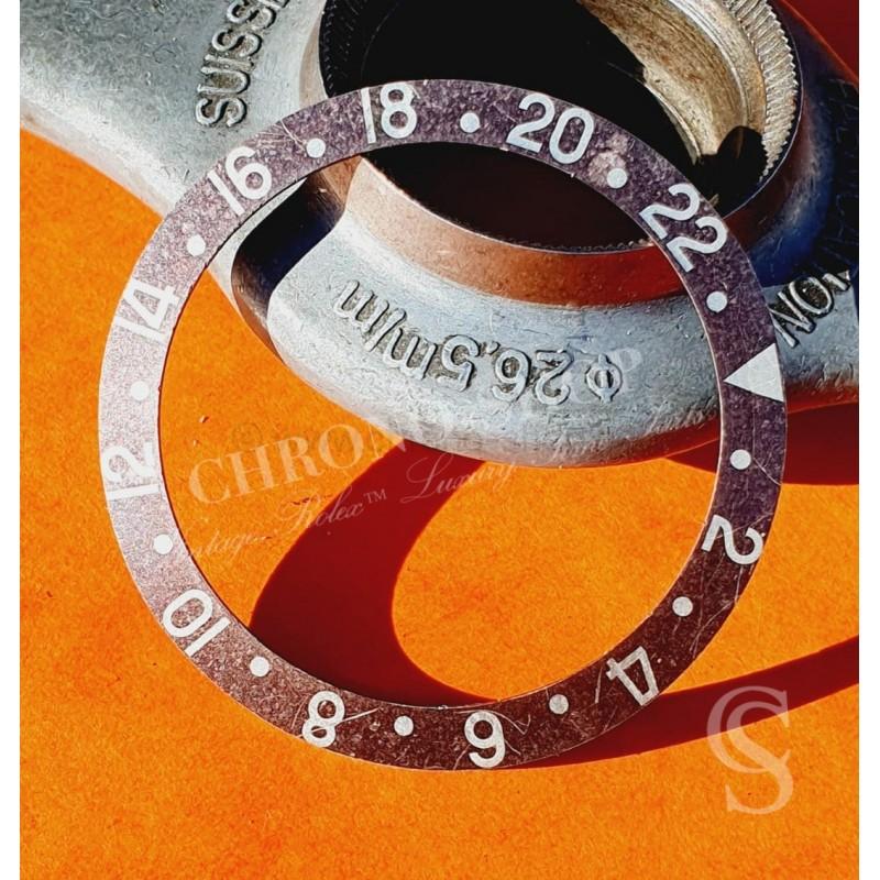 ROLEX EXOTIQUE RARE TROPICAL VINTAGE INSERT GRIS BRUN MONTRES GMT MASTER 1675,16750,1675/8,16758,16753,1675/3
