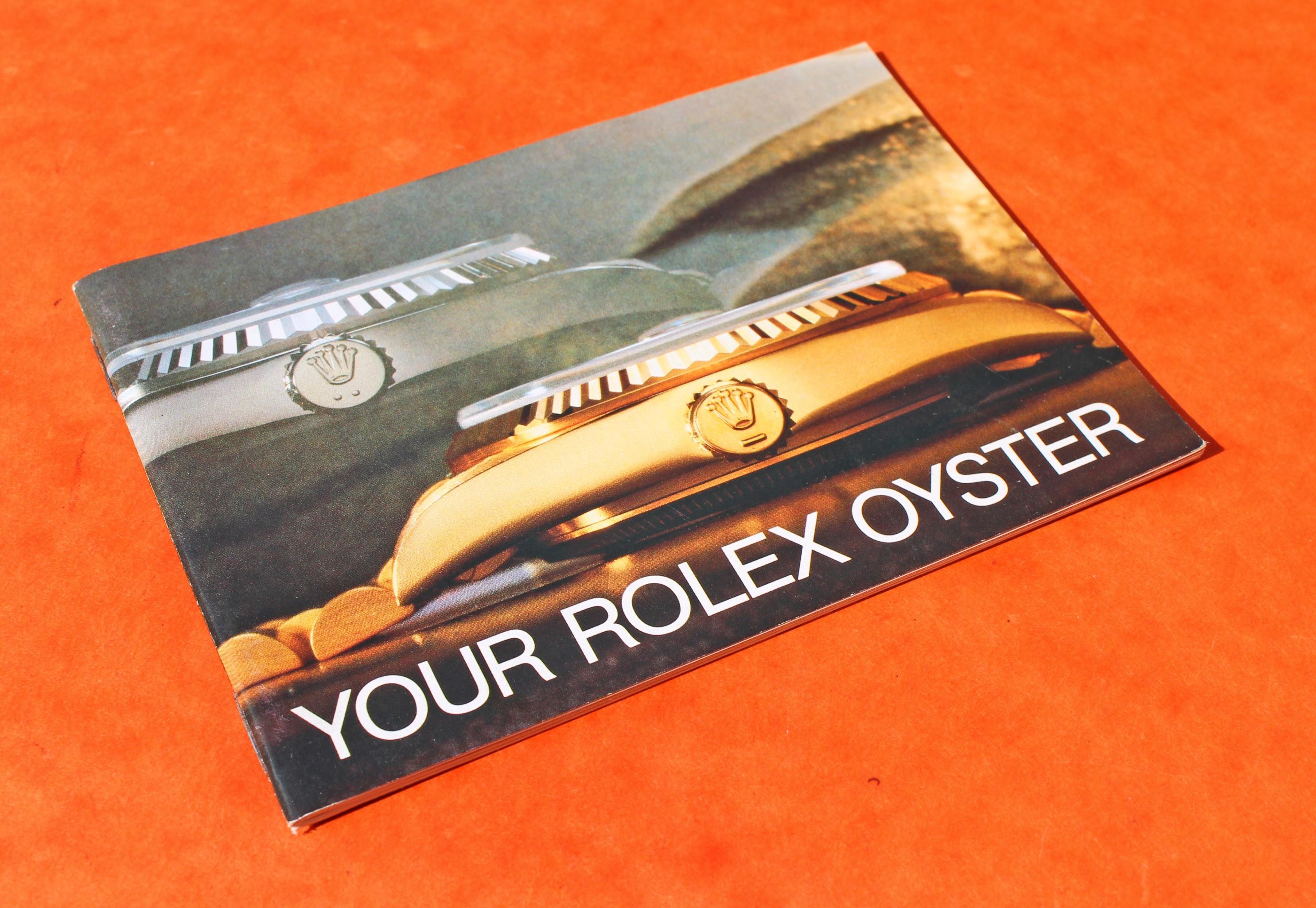 "LIVRET ROLEX ""YOUR ROLEX OYSTER"" 1985 DAYDATE OYSTERQUARTZ DATEJUST OR"