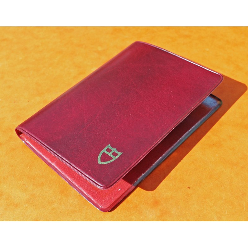 1970 Vintage Tudor Red purple Leather Business Card Wallet ref 106 00 41