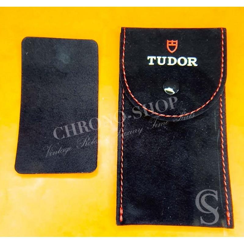 Tudor Black Red Suede velvet pouch traveler's...