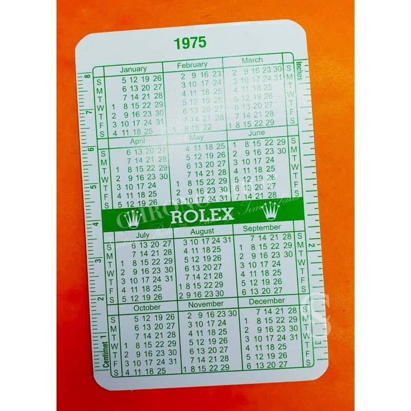 ROLEX RARE COLLECTION CALENDRIER CARTE MONTRES VINTAGES ROLEX 1974-1975