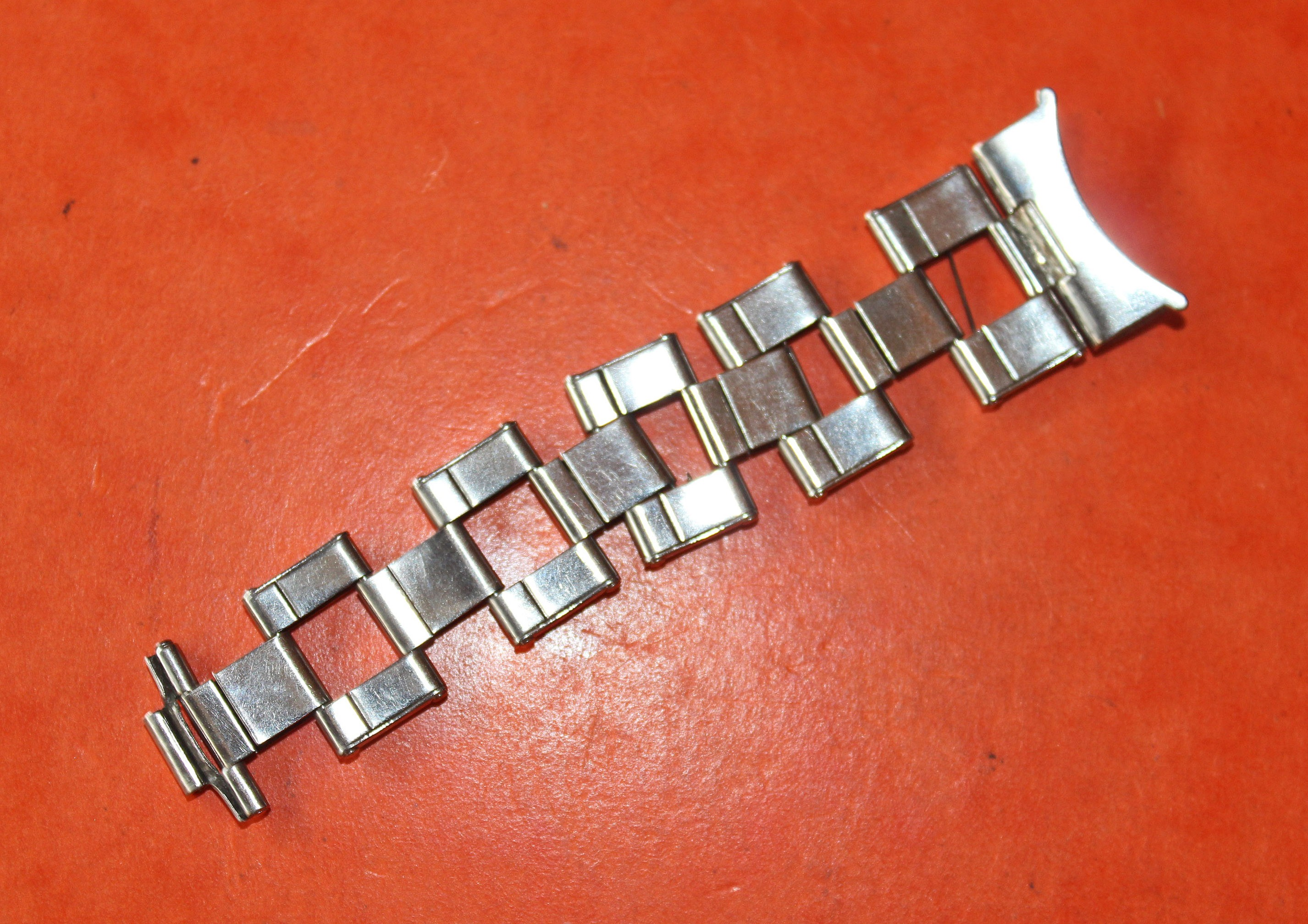 1 x PARTIE BRACELET RIVETS EXTENSIBLE 20mm US SUBMARINER GMT MASTER MAILLONS 5512, 5513, 1680, 1655, 1675, 1019