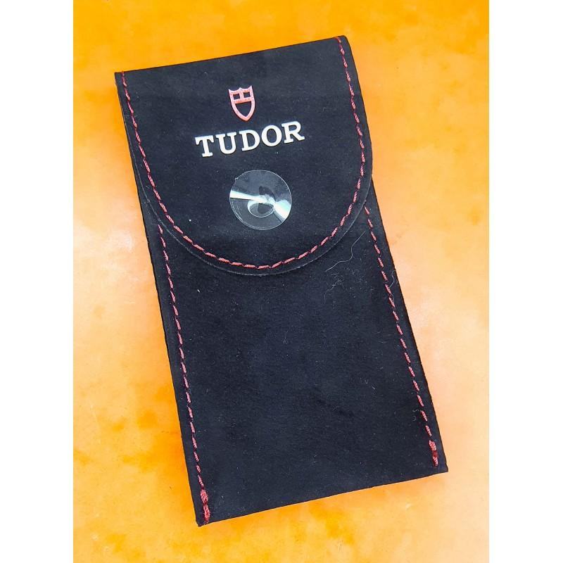 Tudor Black Red Suede velvet pouch traveler's service holder case watches Submariner,Big Block,Montecarlo,BlackBay, P01