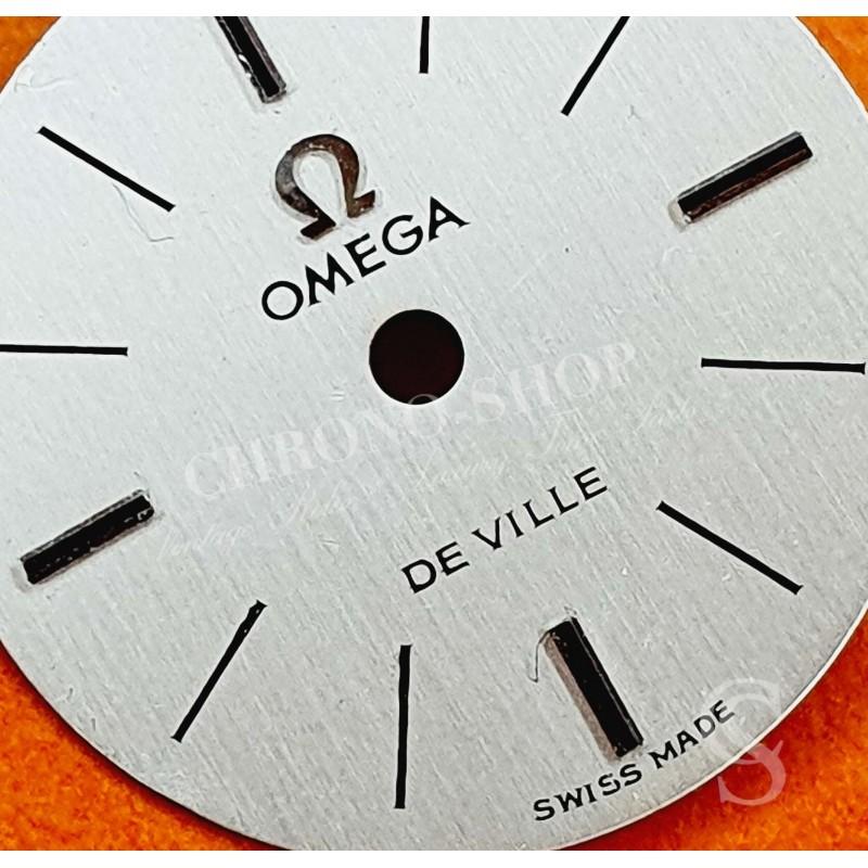 OMEGA 50's Vintage Swiss 17J Adj 2 Pos Ladies Wrist Watch Silver color & gold batons Dial 16,50mm