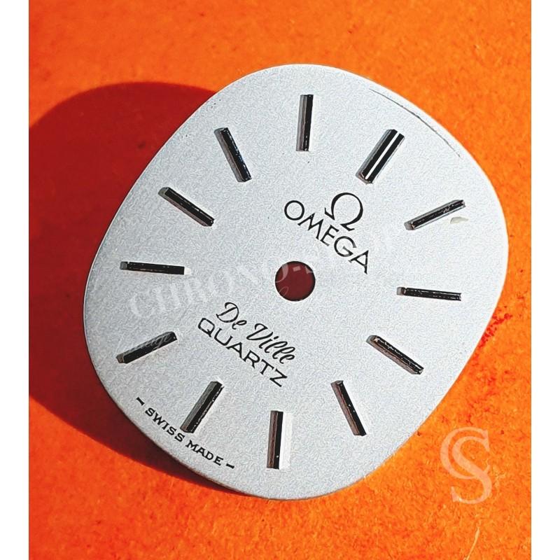 Omega Cadran DE VILLE QUARTZ 14mm tonneau montres vintages dames CouleurARGENT SWISS MADE