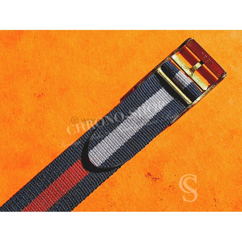 Collectable Vintage 13mm New Old Stock Ladies Nylon Nato Strap White & blue colors Watch strap