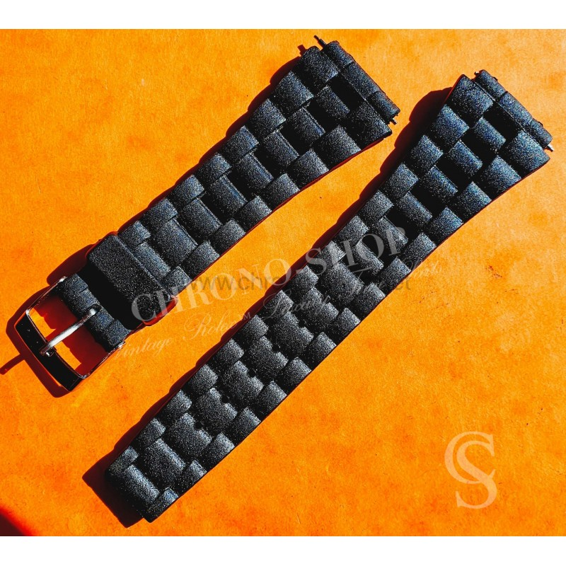 Rubber Watch Strap Bracelet Ovals Links style 20mm with buckle for watches Rolex,Tudor,Omega, IWC,Zenith
