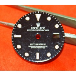 ROLEX OYSTER PERPETUAL GMT MASTER REF 16700, 16710, 16760 BLACK GLOSS DIAL LUMINOVA