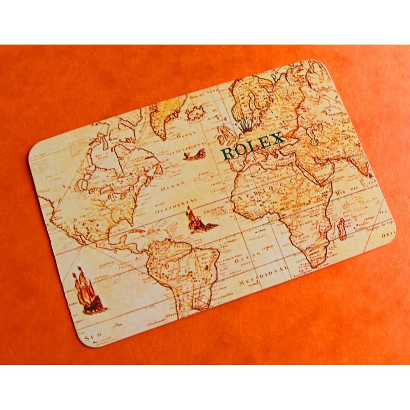 VINTAGE ROLEX CALENDAR CARD 1986
