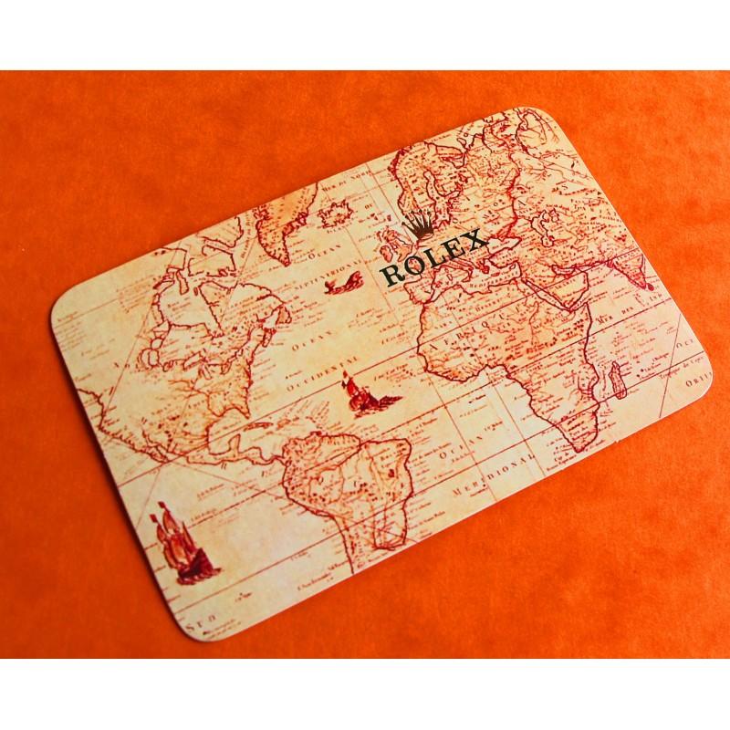 VINTAGE ROLEX CALENDAR CARD 1981